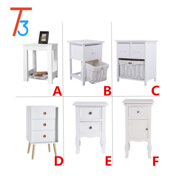 white modern bedside table bedroom cabinet and drawers